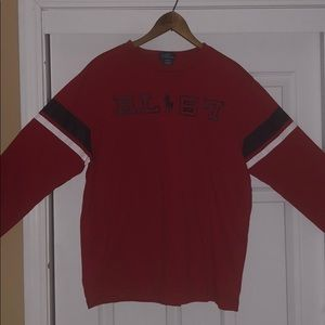 Red Polo long sleeve graphic tee.